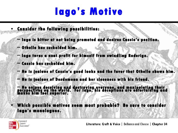 iagos motives in othello essay Shakespeare's play othello here is a link to my edited copy after my teacher edited it.