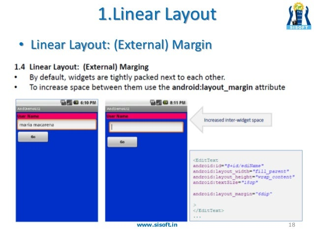 Android Screen Containers & Layouts