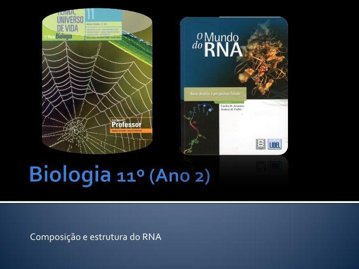 Composição e estrutura do RNA
