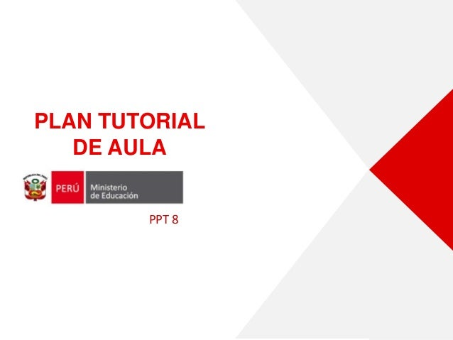 PLAN TUTORIAL DE AULA PPT 8