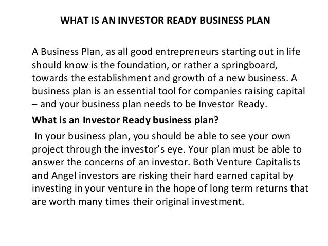 ready business plan
