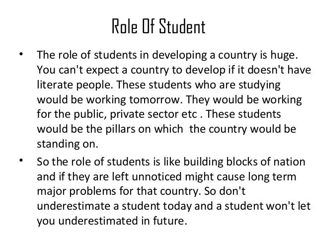essay on duties and responsibilities of students