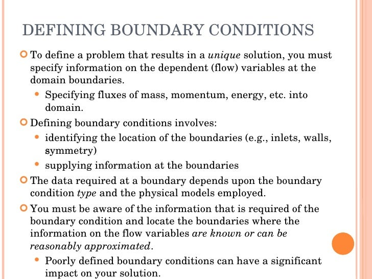 High Quality DEFINING BOUNDARY CONDITIONS ...