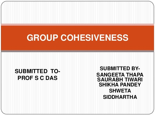 SUBMITTED BY- SANGEETA THAPA SAURABH TIWARI SHIKHA PANDEY SHWETA SIDDHARTHA GROUP COHESIVENESS SUBMITTED TO- PROF S C DAS