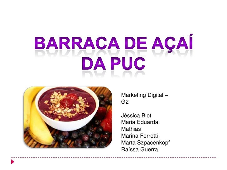 Marketing Digital –G2Jéssica BiotMaria EduardaMathiasMarina FerrettiMarta SzpacenkopfRaíssa Guerra