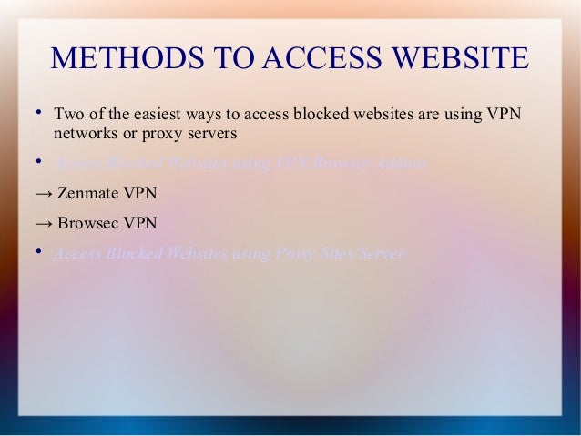 Ppt access for blocked websites access blocked websites using vpn browser ccuart Choice Image
