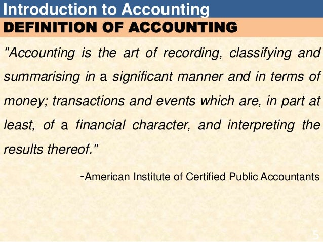 introduction and learning objectives of accounting Cost and management accounting - university of pretoria students date:   learning outcomes:  introduction to cost accounting concepts and terminology  3.