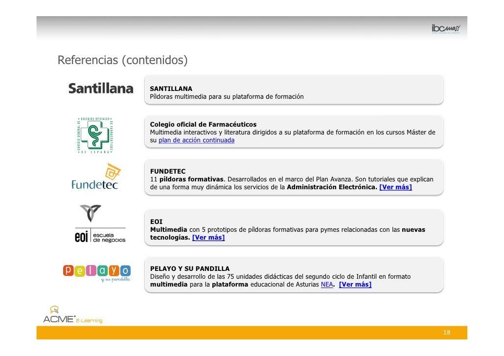 Referencias (contenidos)                   SANTILLANA                  Píldoras multimedia para su plataforma de formación...