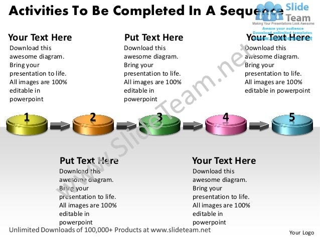 Activities To Be Completed In A SequenceYour Text Here                            Put Text Here                           ...