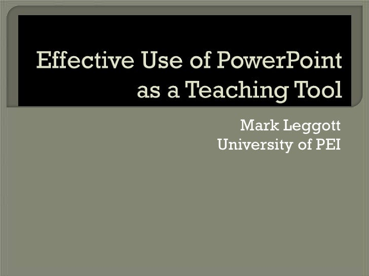 Mark Leggott University of PEI