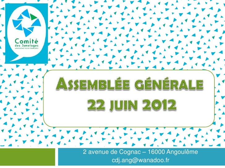 2 avenue de Cognac – 16000 Angoulême         cdj.ang@wanadoo.fr