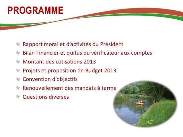 Assemblée Générale 2012 Slide 2
