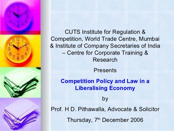 CUTS Institute for Regulation & Competition, World Trade Centre, Mumbai & Institute of Company Secretaries of India – Cent...