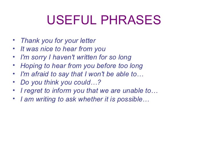 useful words for informal letter Start studying useful phrases - letter to the editor learn vocabulary, terms, and more with flashcards, games, and other study tools.