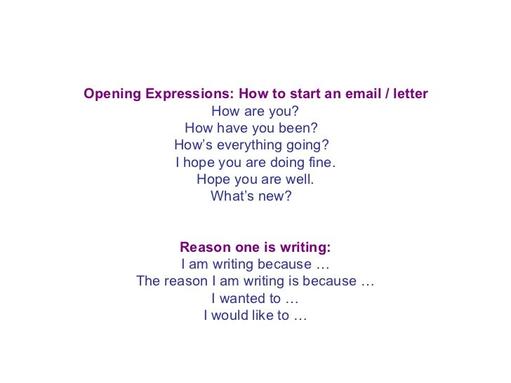 Ppt an informal letter