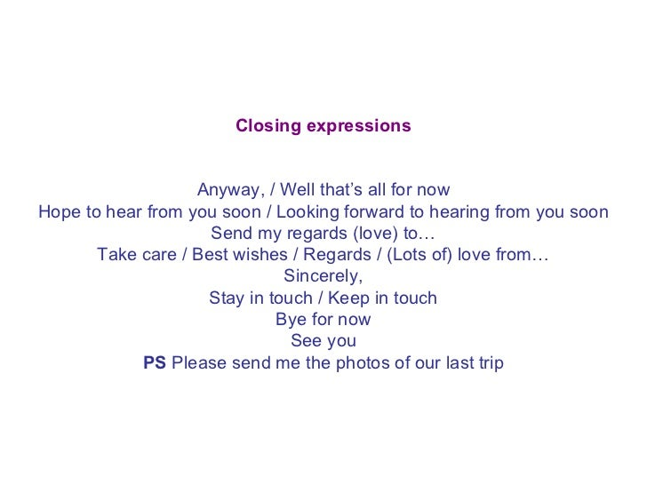 closing expressions anyway