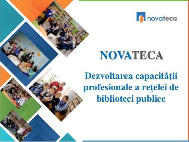 NOVATECA Dezvoltarea capacității profesionale a rețelei de biblioteci publice