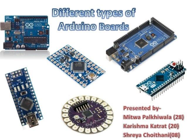 Different arduino boards