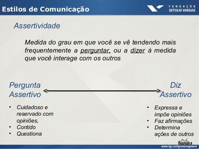 Estilos de Comunicação                        Controla             ANALÍTICO         DIRETIVO Pergunta                    ...