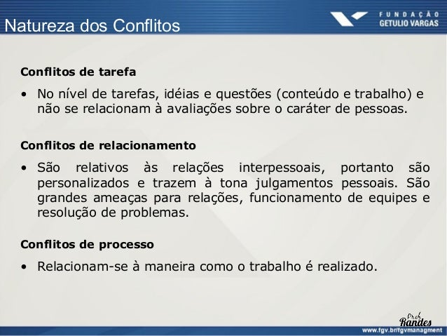 Métodos de Solução de Conflitos      Quando usar cada um dos estilos de gerenciamento de conflitos Situação         Força ...