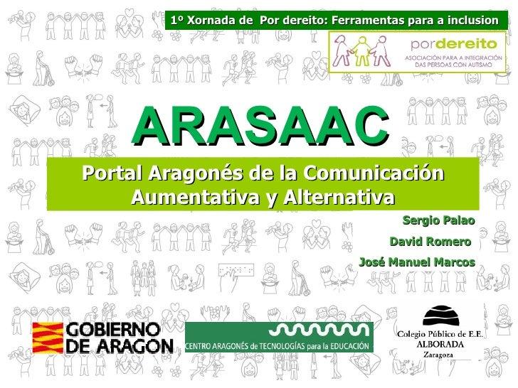 1º Xornada de Por dereito: Ferramentas para a inclusion    ARASAACPortal Aragonés de la Comunicación     Aumentativa y Alt...