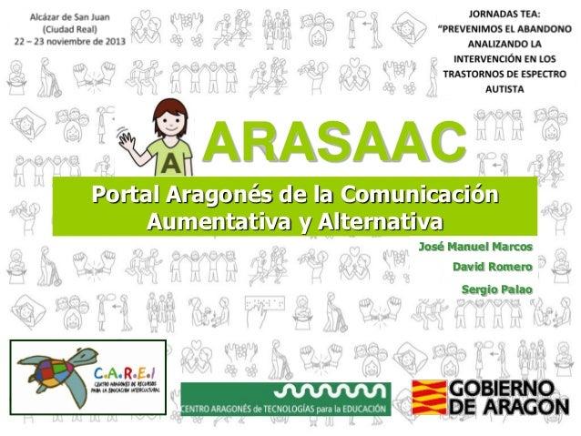 ARASAAC Portal Aragonés de la Comunicación Aumentativa y Alternativa José Manuel Marcos David Romero Sergio Palao