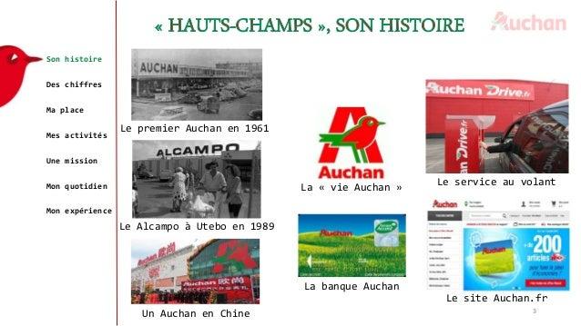 Son histoire Des chiffres Ma place Mes activités Une mission Mon quotidien Mon expérience 3 Le premier Auchan en 1961 Le A...