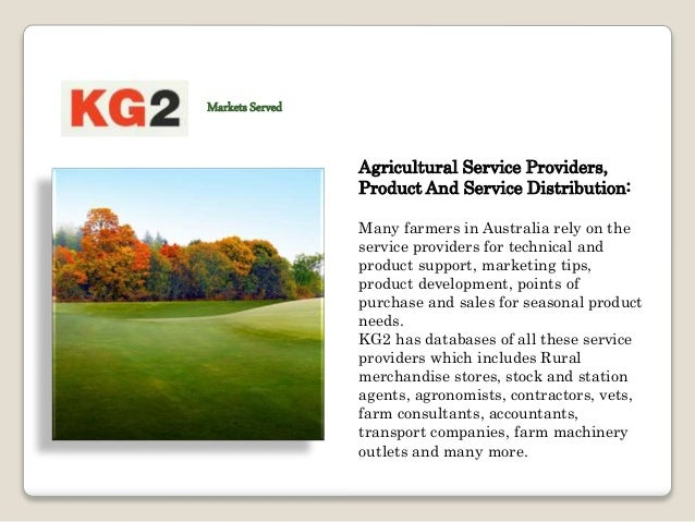 Farm Machinery And Equipment: KG2 help farm machinery manufacturers to define targeted possible lists from KG2′s fact-base...