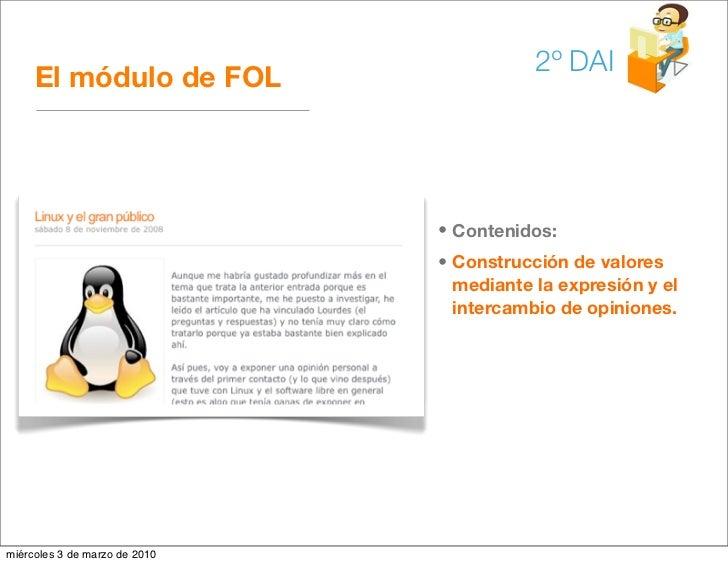 2º DAI      El módulo de FOL                                    • Contenidos:                                • Construcció...