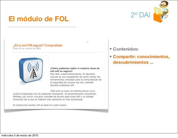 2º DAI      El módulo de FOL                                   • Contenidos:                                • Compartir: c...