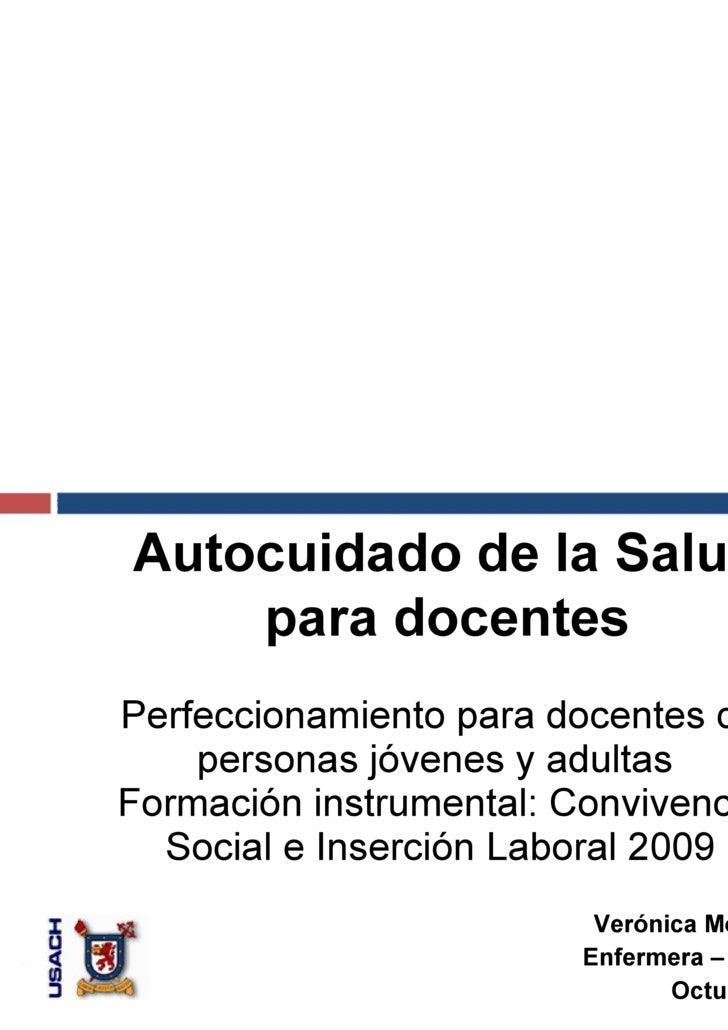 Perfeccionamiento para docentes de personas jóvenes y adultas  Formación instrumental: Convivencia Social e Inserción Labo...