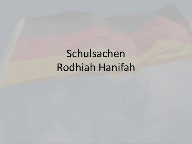 Schulsachen Rodhiah Hanifah