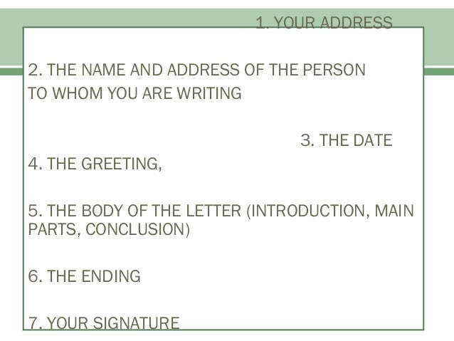 Informal Letter Format Address. 11  Formal and Informal Letter Writing