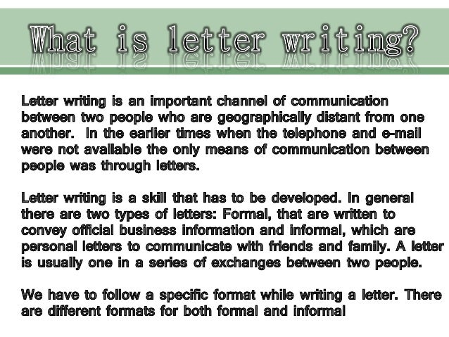 formal and informal letter writing