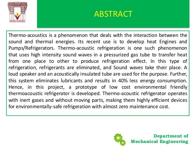 THERMOACOUSTIC REFRIGERATION Slide 3