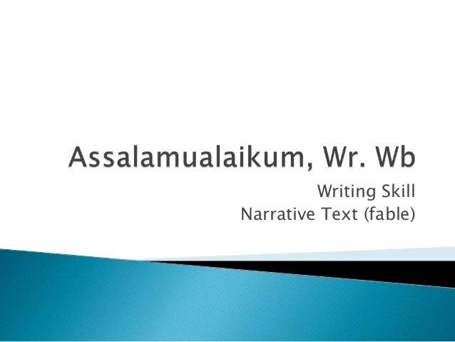 Bahan Ajar Narrative Text Fable