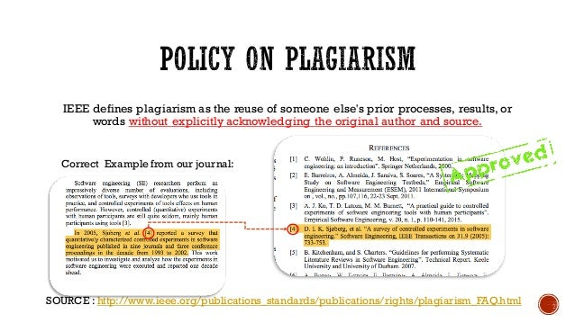 ieee papers on plagiarism Avoid plagiarism — quickly check for  what is institute of electrical and electronic engineers (ieee)  accepted format for writing research papers in.