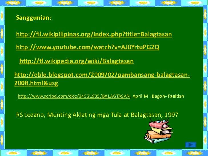 halimbawa ng balagtasan Halimbawa ng tulang liriko: sa dalampasigan ni teodoro a agoncillo basahin ang tula dito this is a tagalog lyric poem.