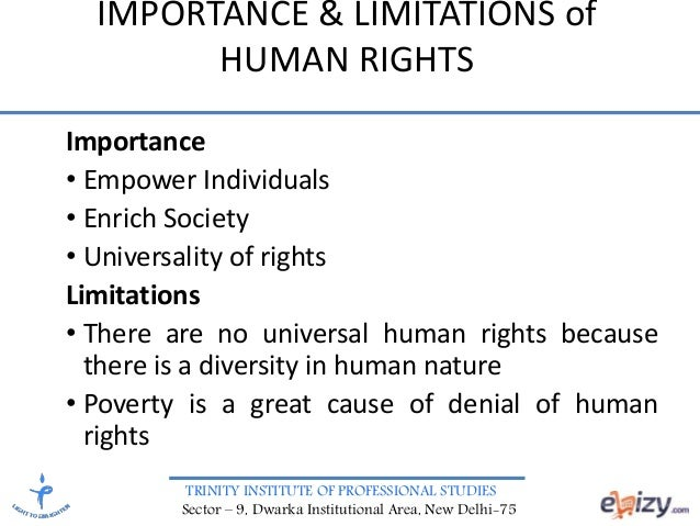 classification of human rights Human rights these are the rights which serve as a necessary prelude for the well-being of human beings for they are universally applicable to all human beings irrespective of colour, race, religion.