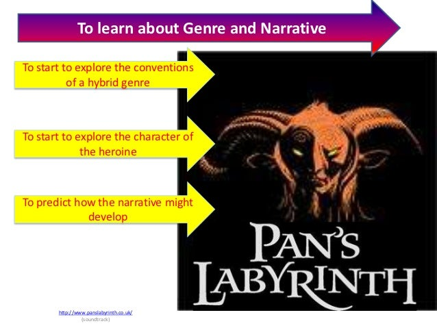 To learn about Genre and NarrativeTo start to explore the conventions          of a hybrid genreTo start to explore the ch...