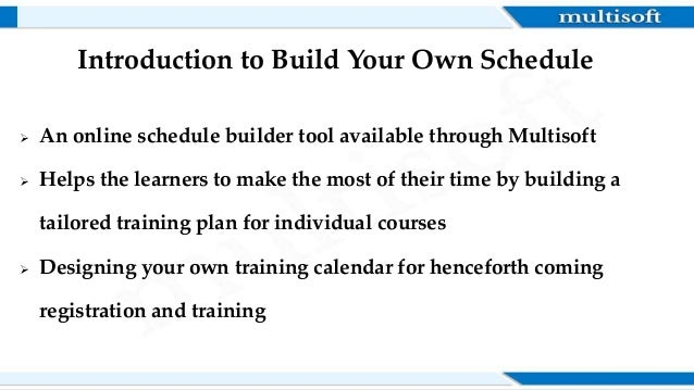 ppt build your own schedule