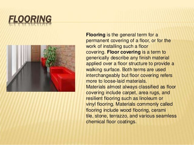 Ppt By Maruthish On Floors