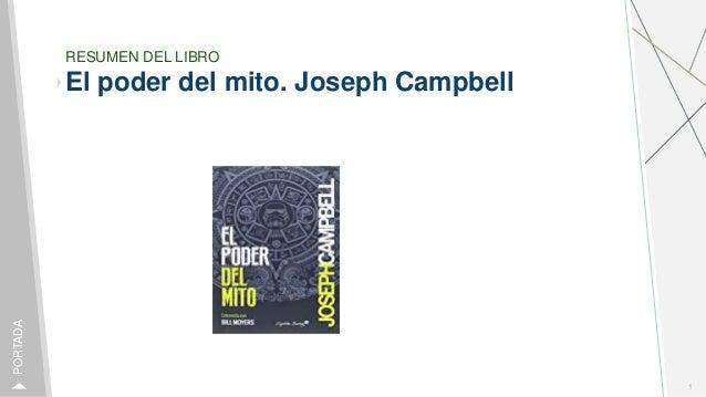 RESUMEN DEL LIBRO El poder del mito. Joseph Campbell 1 PORTADA