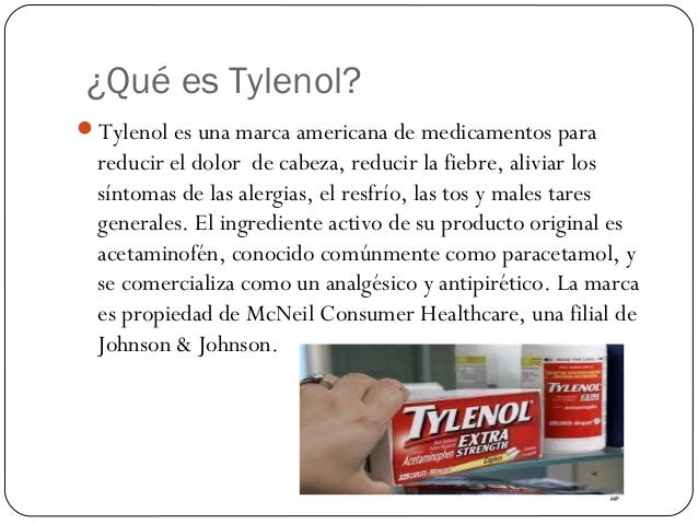 Ingrediente activo del tylenol