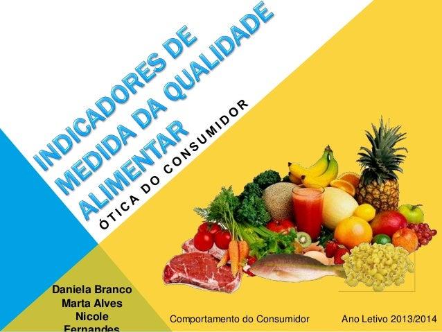 Daniela Branco Marta Alves Nicole Comportamento do Consumidor Ano Letivo 2013/2014