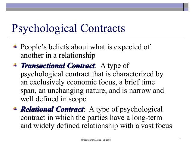 psycological contract Browse examples and psychological contract content selected by the human resources today community.