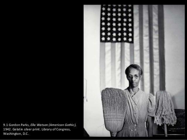 91 Gordon Parks Ella Watson American Gothic 1942