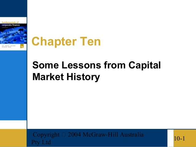 Copyright  2004 McGraw-Hill AustraliaPty Ltd10-1Chapter TenSome Lessons from CapitalMarket History