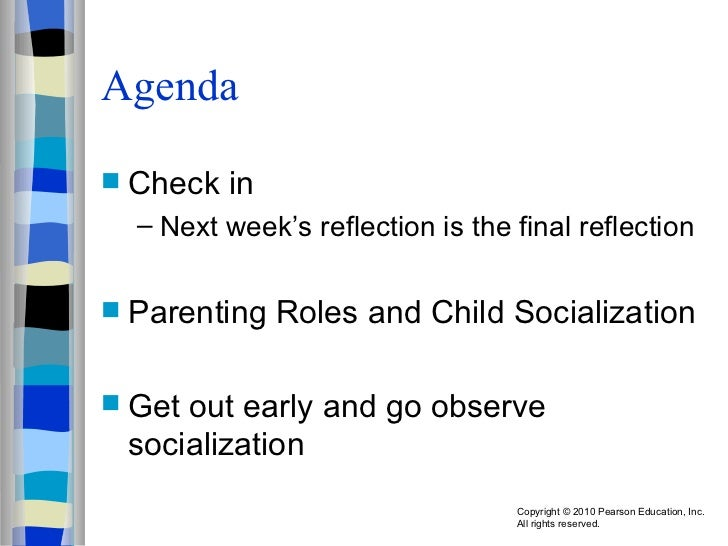 Agenda <ul><li>Check in </li></ul><ul><ul><li>Next week's reflection is the final reflection </li></ul></ul><ul><li>Parent...