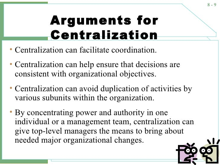"centralization vs decentralization procurement On the surface, centralized procurement seems preferable to the alternative as  my colleague, peter smith observes, ""it is perhaps easier to see."